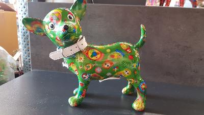 POMME PIDOU CHIHUAHUA PIPA VERT PM MOTIF POUPEE RUSSE